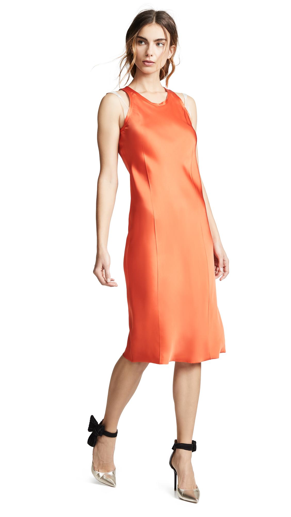 Helmut Lang Bra Strap Tank Dress - Magma