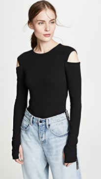 Helmut Lang Slash Long Sleeve Tee 2019