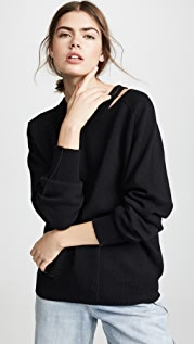 Helmut Lang Slash V Neck Pullover