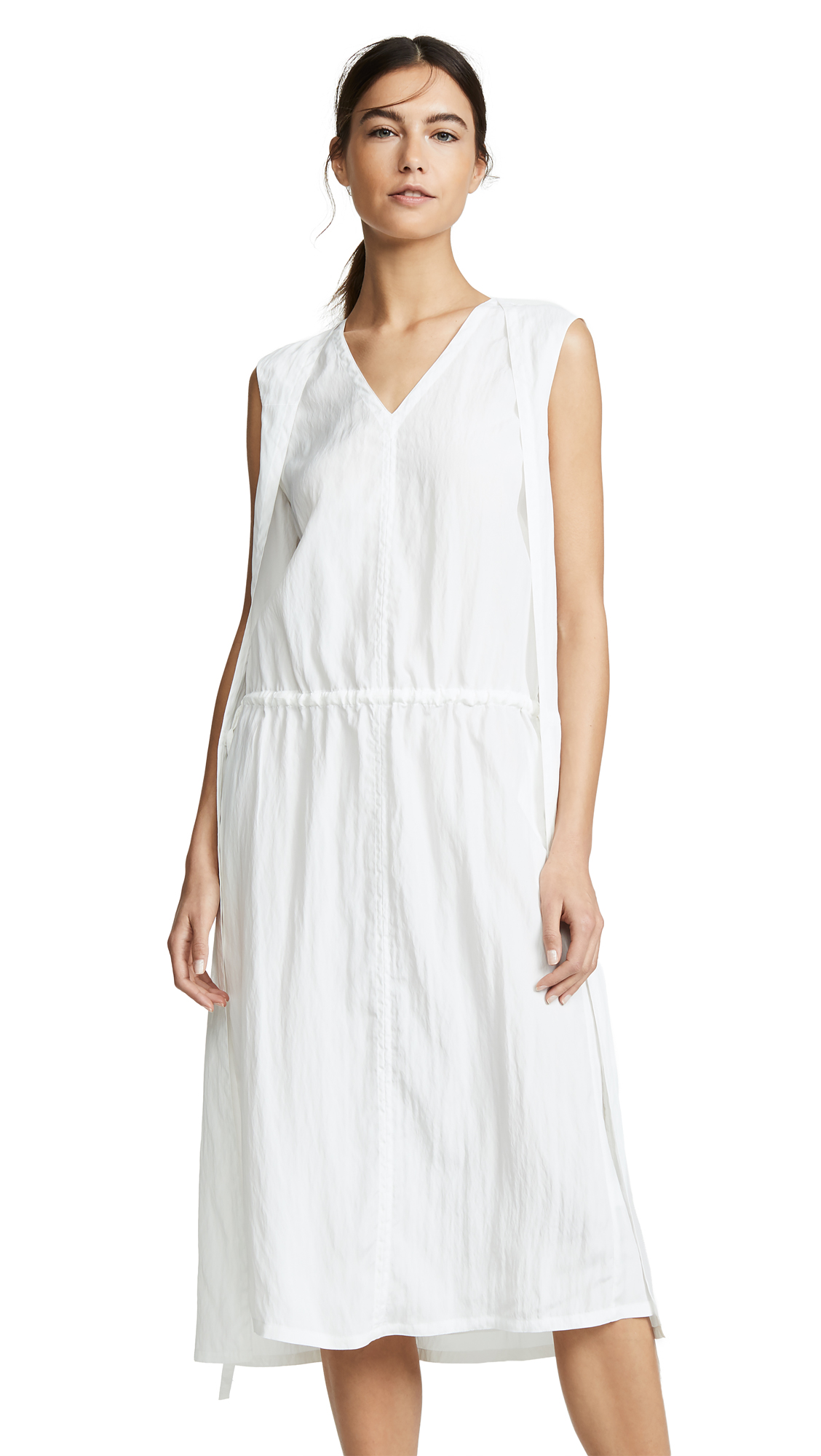 Helmut Lang Sheer Parachute Dress - White