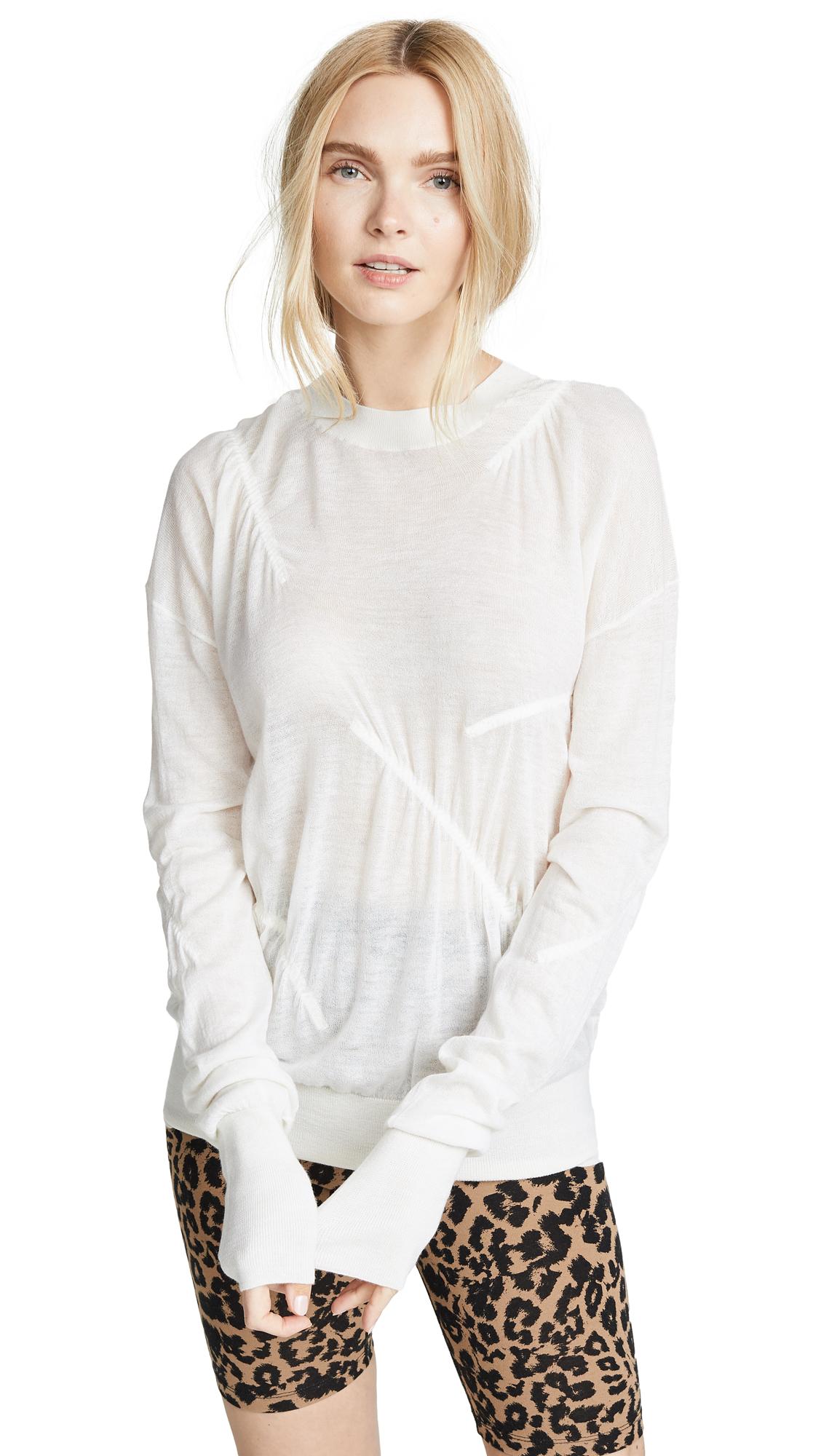 Helmut Lang Elasticated Cashmere Pullover - Bleach