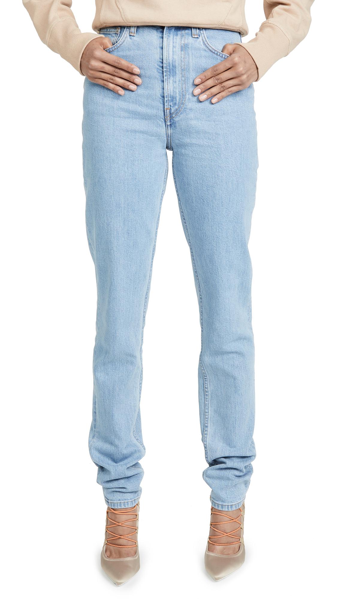 Helmut Lang Femme High Spikes Jeans - Light Stone Indigo