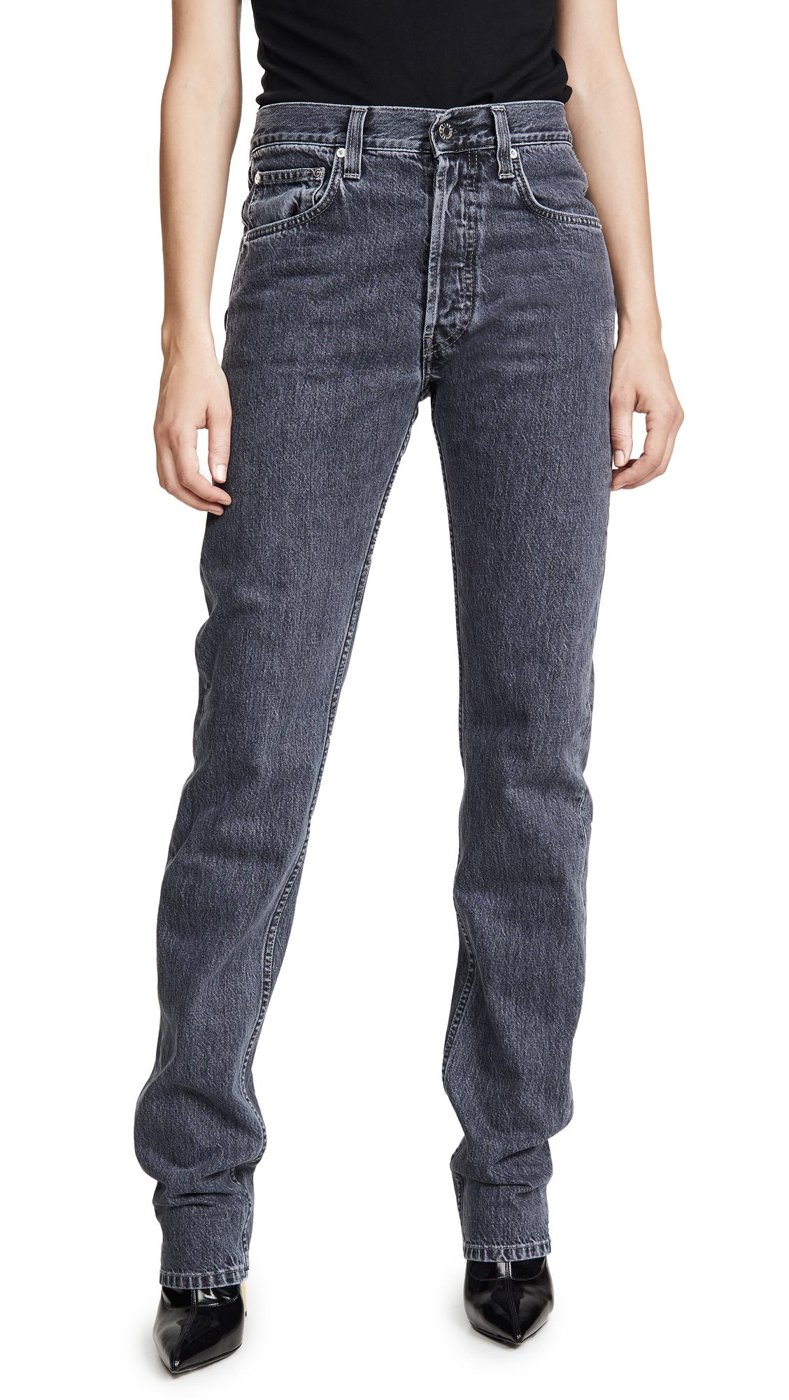 Helmut Lang Masc Hi Straight Leg Jeans - Midnight Stone Universe