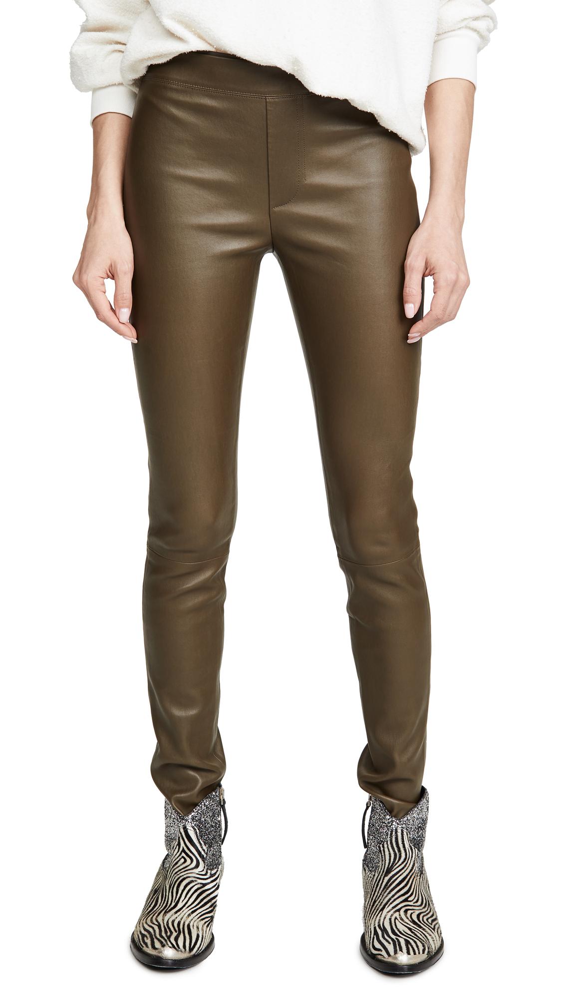 Helmut Lang Leather Leggings - Resin