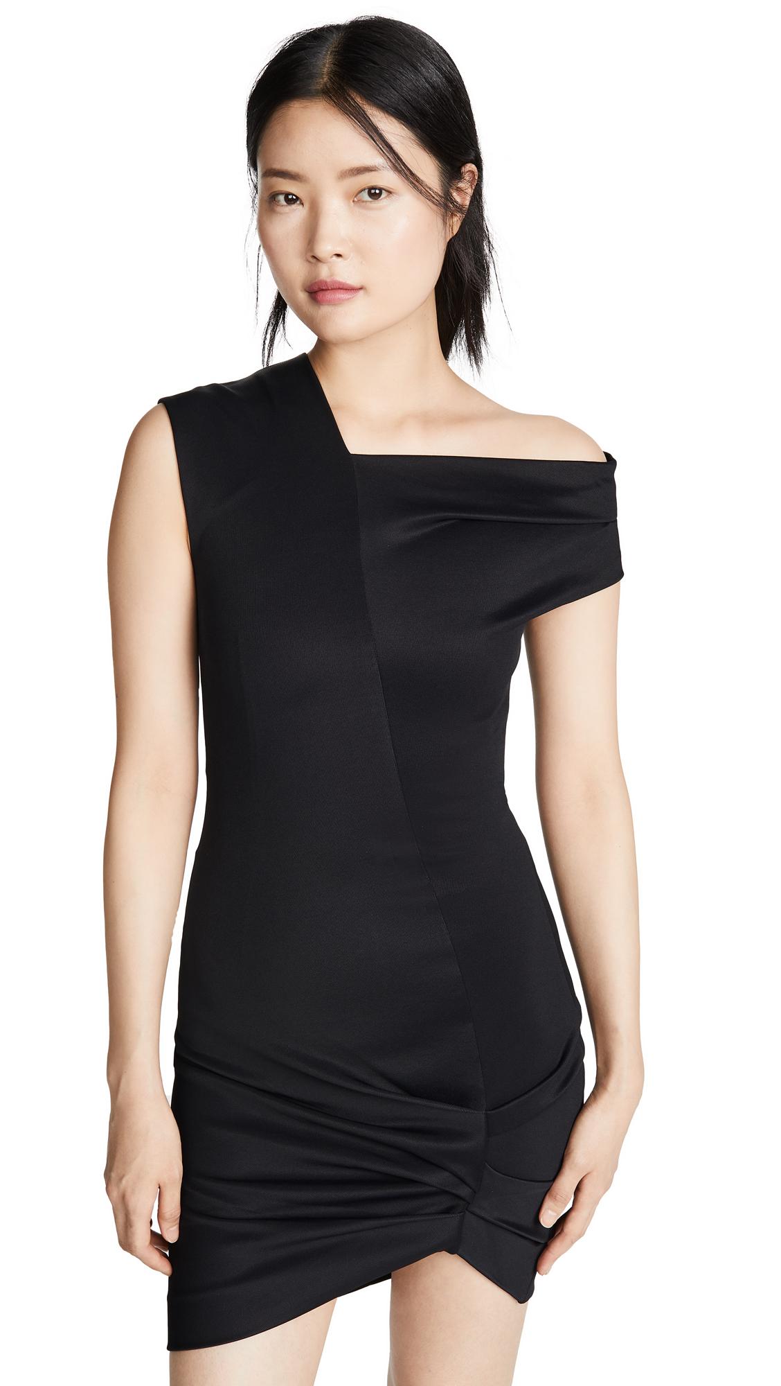 Helmut Lang Front Drape Dress - Black