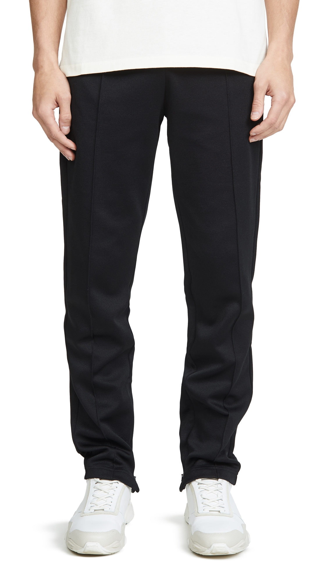 Helmut Lang Zip Away Jersey Track Pants