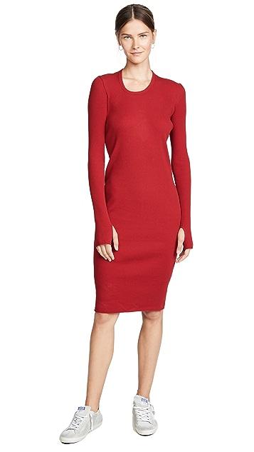 Helmut Lang Long Sleeve Rib Dress