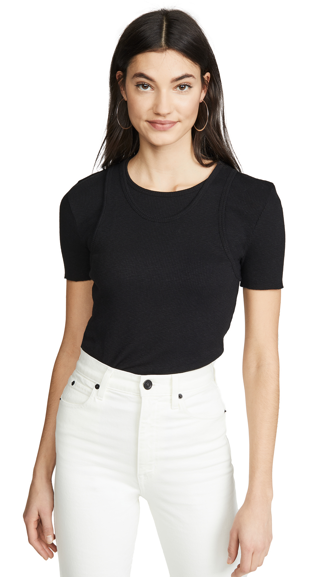 Buy Helmut Lang online - photo of Helmut Lang Double Layer Tee