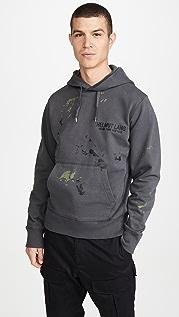 Helmut Lang Paint Splattered Standard Logo Hoodie