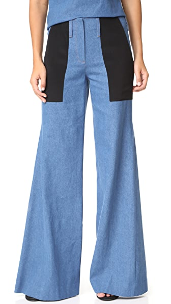 Hellessy Patton Flare Pants In Denim