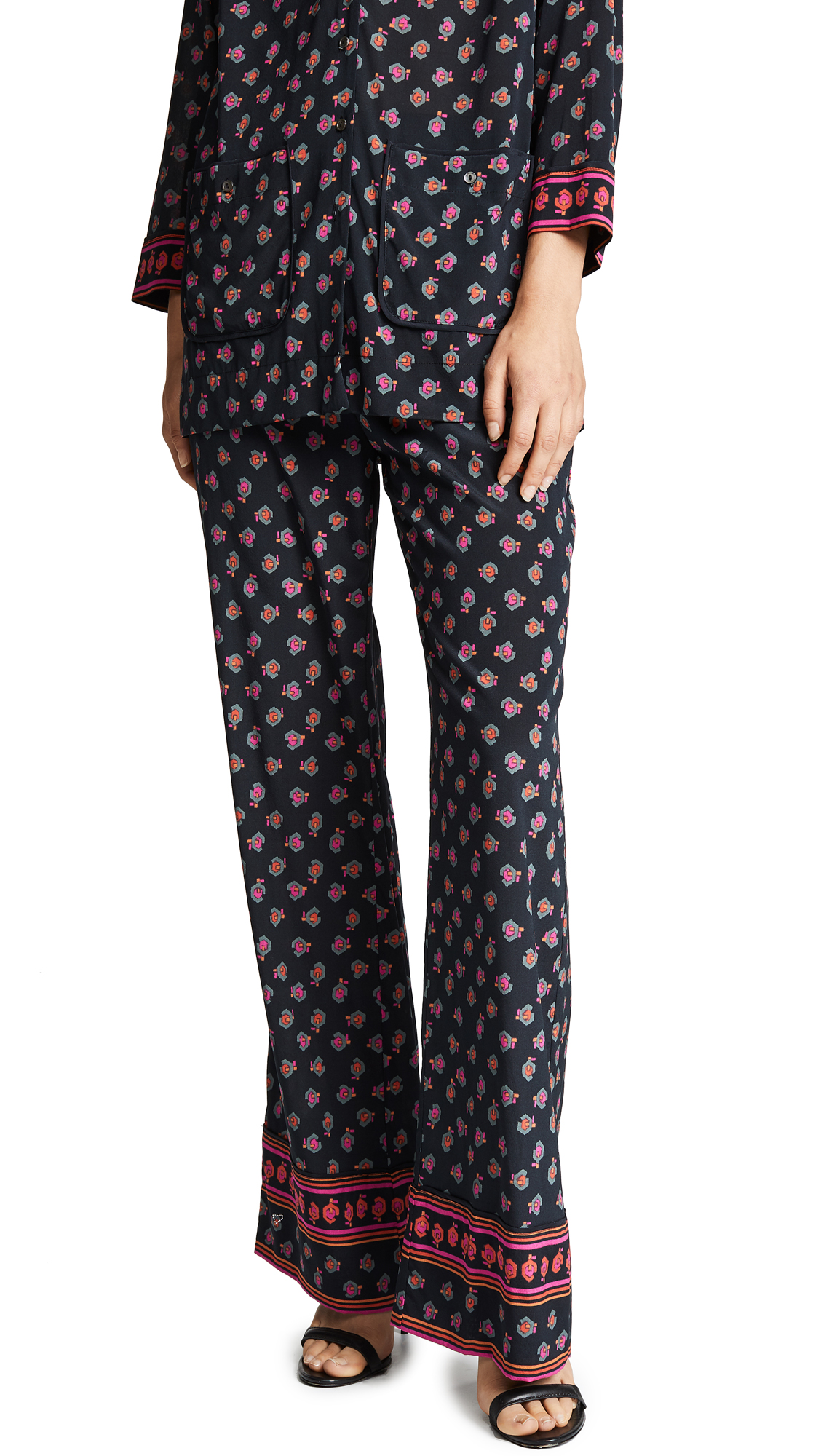 Nola Pajama Pants in Black Print
