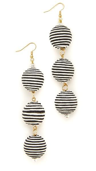 Holst + Lee Triple Earrings - Black/White