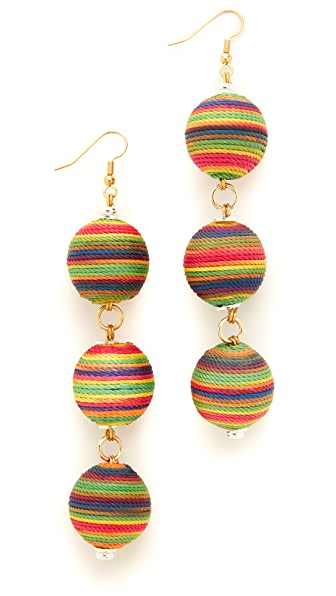 Holst + Lee Sunrise Triple Ball Earrings In Multi