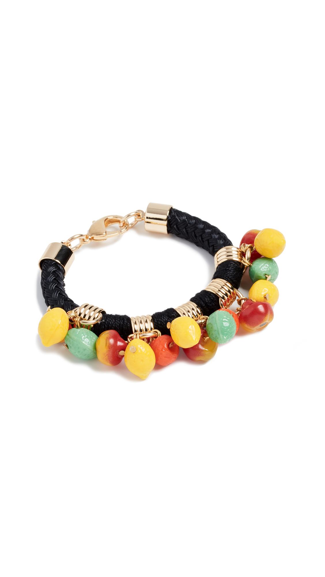 Holst + Lee Fruit Charm Bracelet In Black/Multi