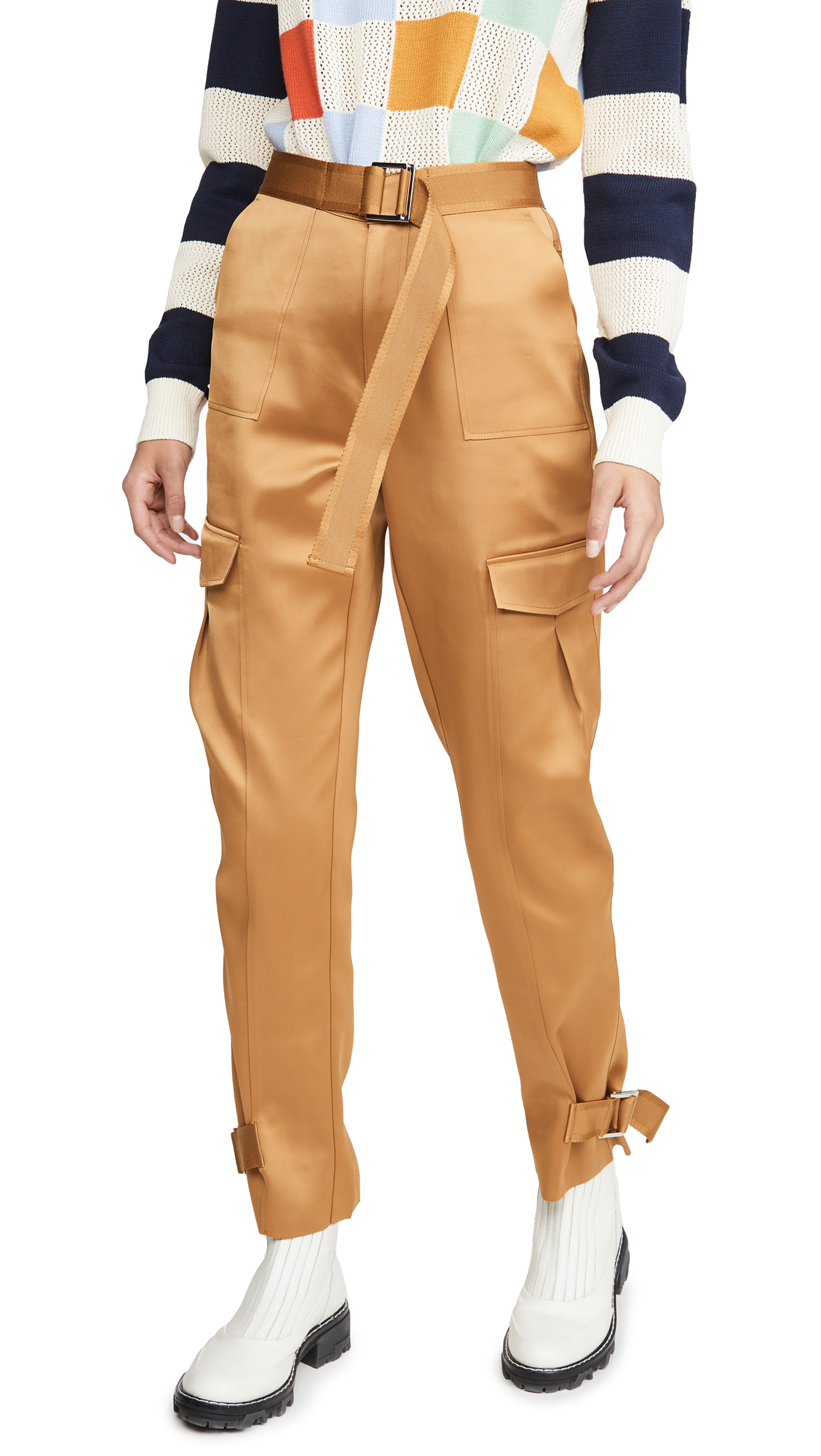 Buy HOLZWEILER online - photo of HOLZWEILER Skunk Polyester Trousers