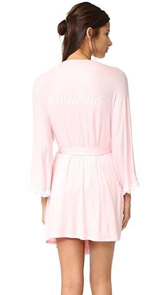 Honeydew Intimates Bridesmaid Robe - Blush/White