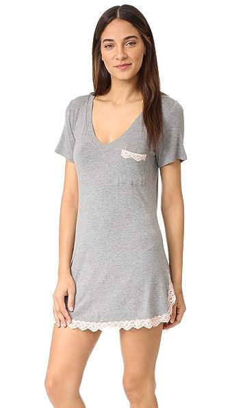 Honeydew Intimates Modern Drifter All American Sleep Shirt - Heather Grey/Seashell