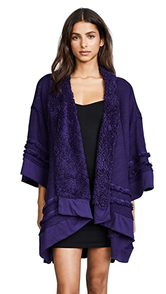 Honeydew Intimates Hold Me Tight Reversible Wrap Cardigan In Night Before