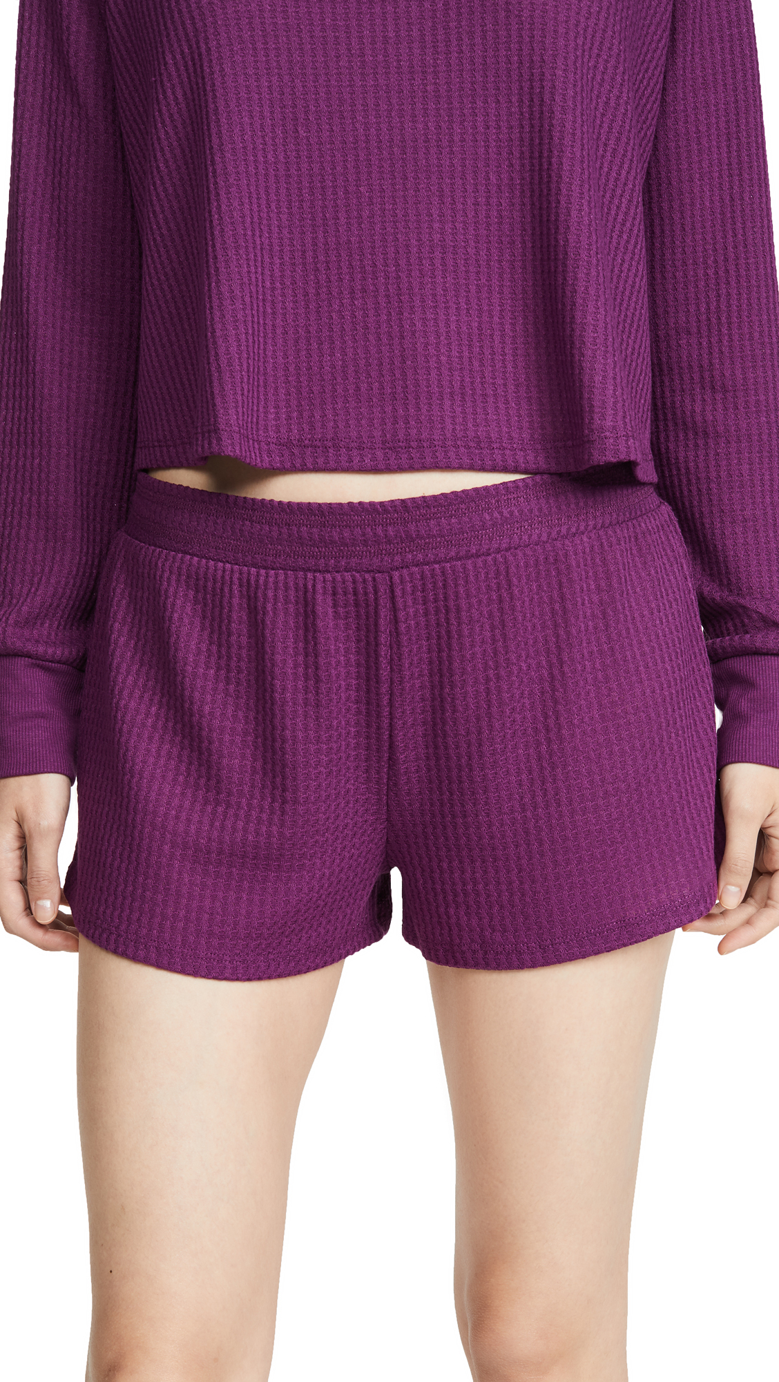 Buy Honeydew Intimates online - photo of Honeydew Intimates Sneak Peek Waffle Knit Lounge Shorts