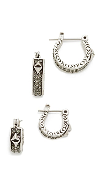 House of Harlow 1960 Dakota Huggie Earring Set