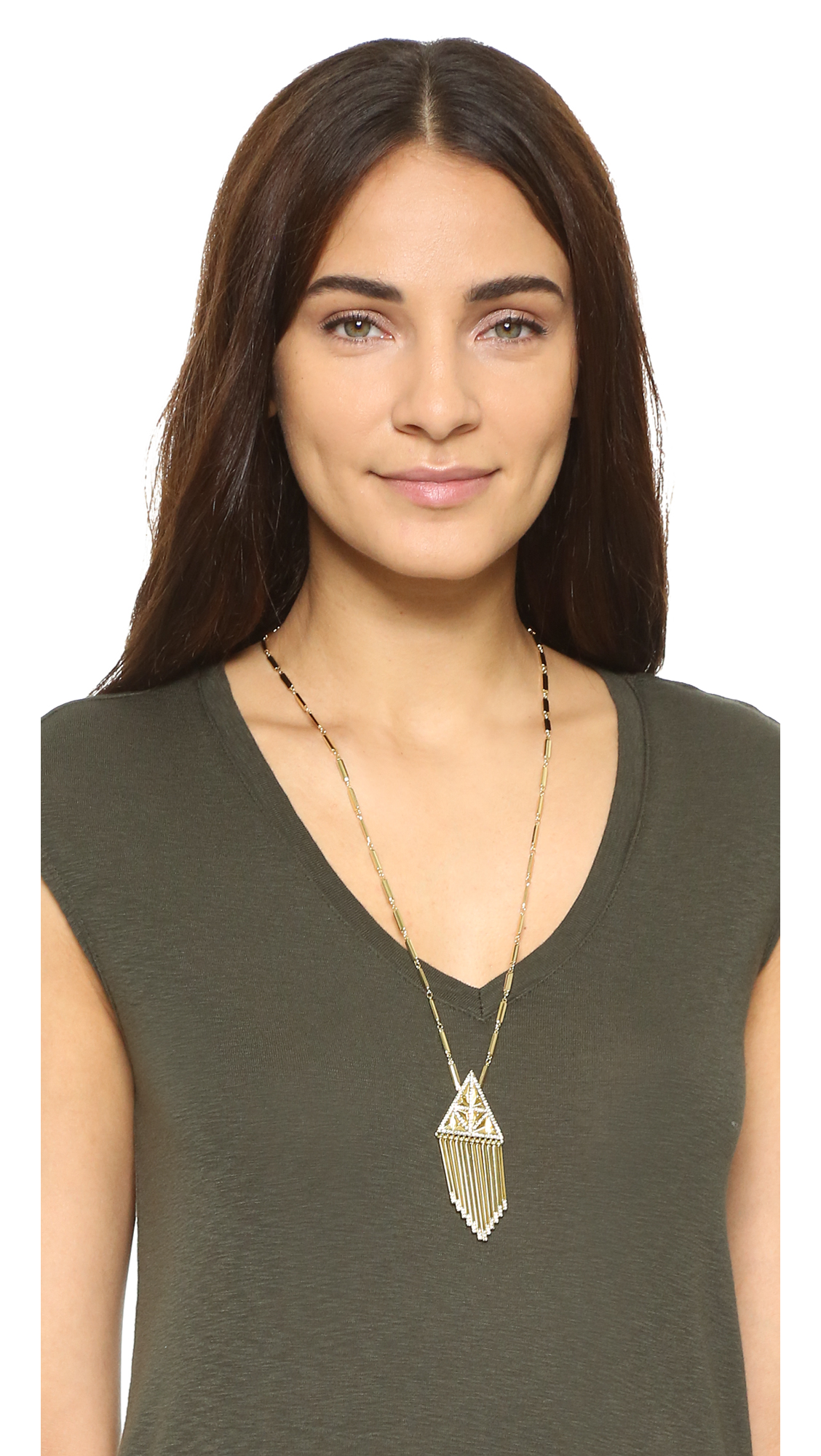 House of harlow 1960 golden hour fringe pendant necklace shopbop mozeypictures Image collections