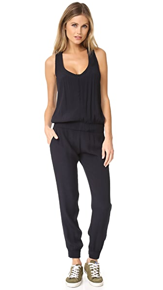MONROW Crepe Basics Jumpsuit at Shopbop
