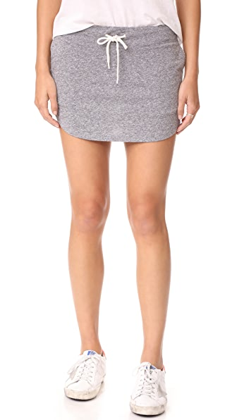 MONROW Granite Slub Baseball Skirt - Granite