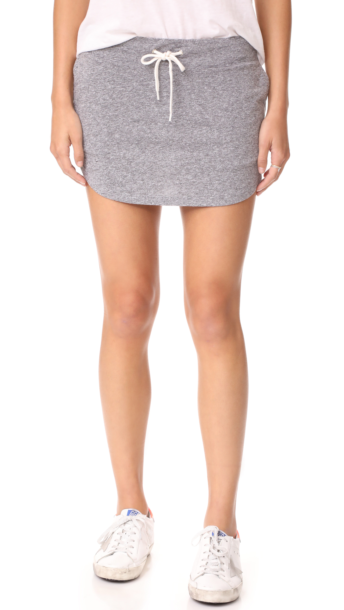 MONROW Granite Slub Baseball Skirt - Granite