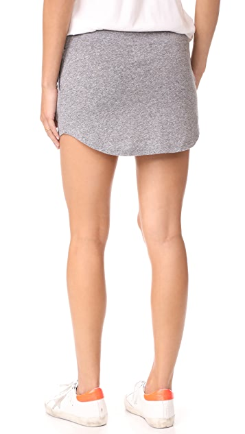 MONROW Granite Slub Baseball Skirt