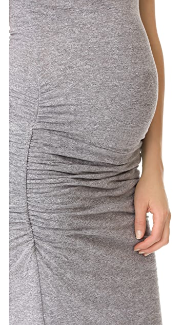 MONROW Maternity Shirred Tee Dress
