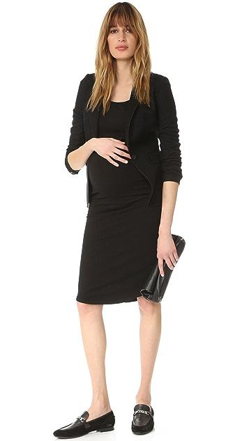 MONROW Maternity Cap Sleeve Dress