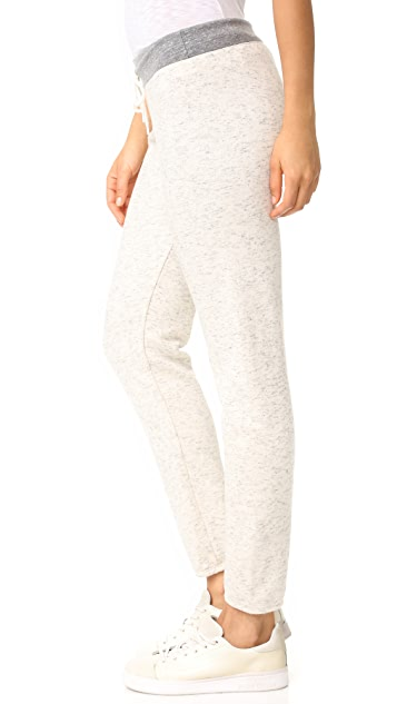 MONROW Vintage Sweatpants with Contrast Waistband