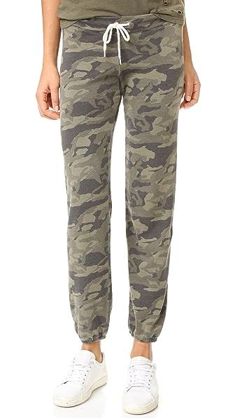 MONROW Camo Vintage Sweatpants - Olive