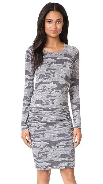 MONROW Camo Baseball Dress - Granite