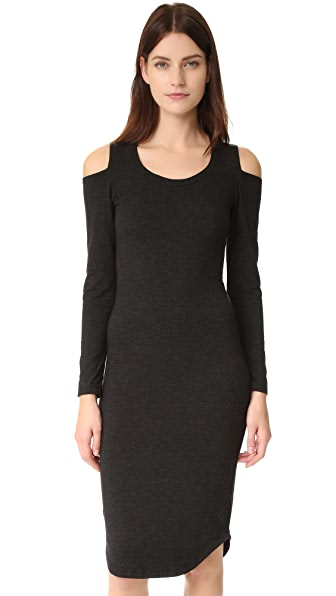 MONROW Shoulder Cutout Dress