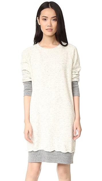 MONROW Double Layer Sweater Dress