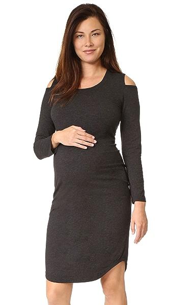 MONROW Платье для беременных с вырезами на плечах