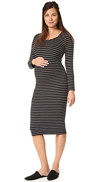 MONROW Maternity Stripe Dress