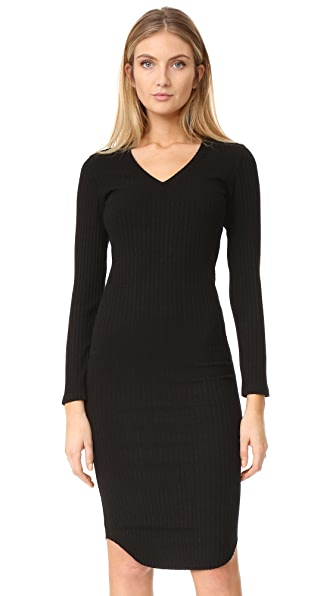 MONROW Stretch Rib Dress