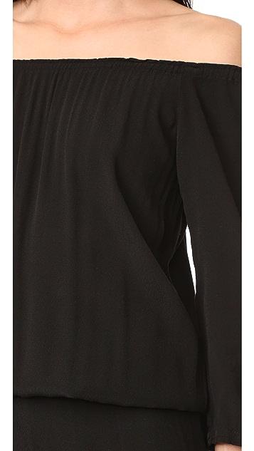 MONROW Off Shoulder Blouson Jumpsuit