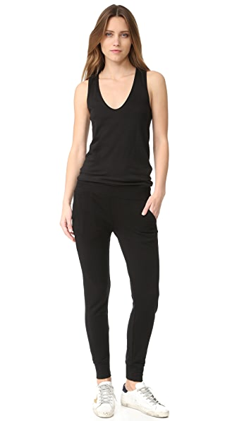 MONROW Sporty Jumpsuit - Black