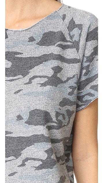 MONROW Cutoff Camo Sweatshirt