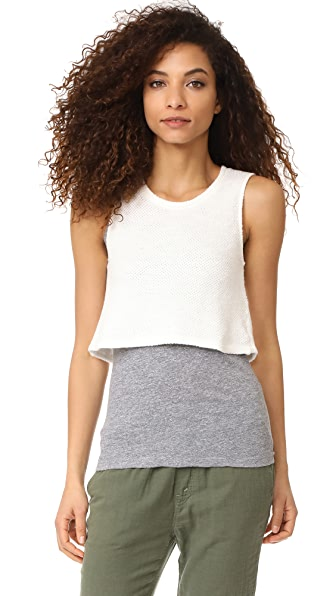 MONROW Double Layer Tank In Natural