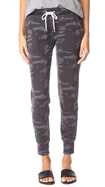 MONROW Neutral Camo Sporty Sweatpants - Vintage Black