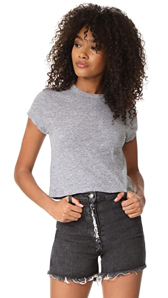 MONROW Granite Mini Pocket Tee - Granite