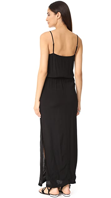 MONROW Square Neck Maxi Dress