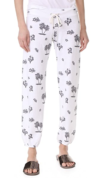 MONROW Tropical Vintage Sweatpants - White
