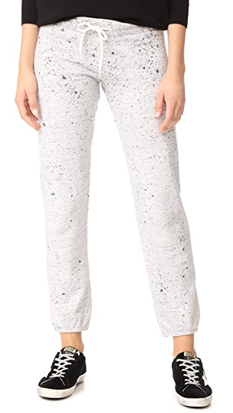 MONROW Splatter Tue Dye Sweats - Heather Grey