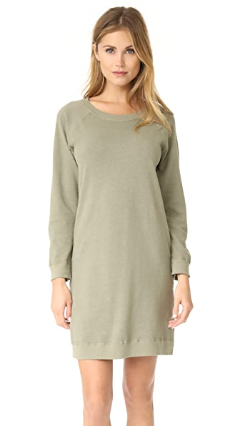 MONROW Sweatshirt Dress In Army