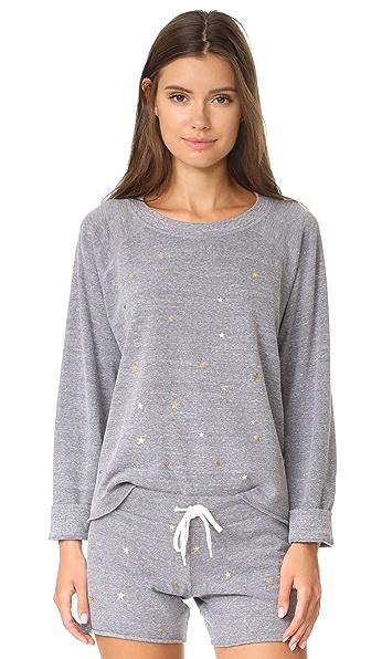 MONROW Sweatshirt with Stardust - Dark Heather